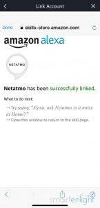 Screenshot of the Alexa Netatmo Skill