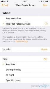 Apple Home app People Arrive / People Leave Automation