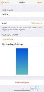 Screenshot of Apple Home app - HomeKit zone