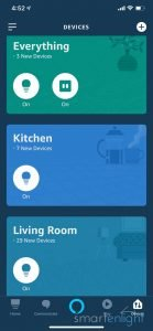 Screenshot of Alexa App - Devices view