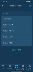 Screenshot of Alexa App - Living Room Relax Group