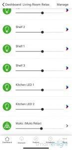 Screenshot of Nanoleaf App - HomeKit Scene