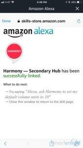 Alexa Harmony Red Skill Installed