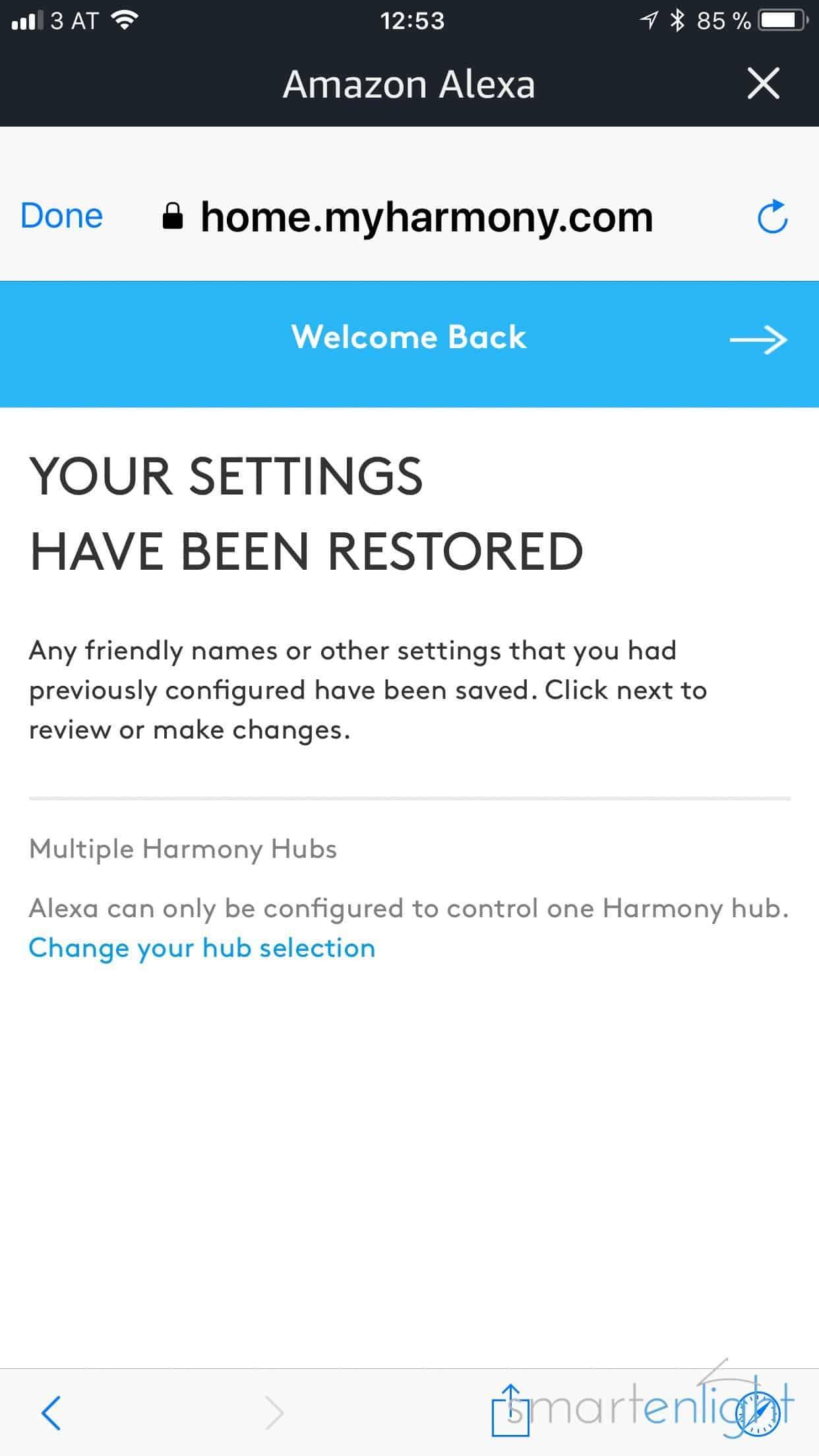 Alexa Harmony Befehle