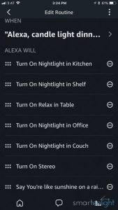 Alexa candle light dinner routine
