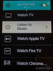 Logitech Harmony Remote Screen Activities