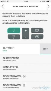 Logitech Harmony Mapping Home Control Buttons