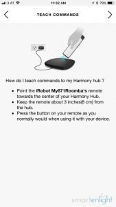Logitech Harmony Roomba Teaching Commands Introduction
