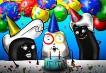 Drawing of Google Home Birthday Party