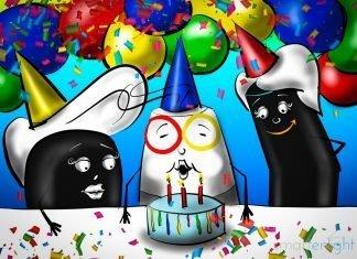 Illustration of Hey Google, Happy 3rd Birthday!