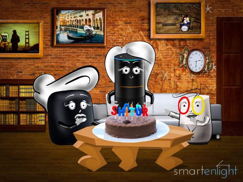 Alexa birthday with cake