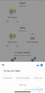 screenshot of google home: how can I help you?
