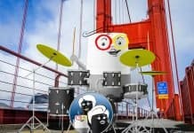 Google Home drumming on Golden Gate Bridge