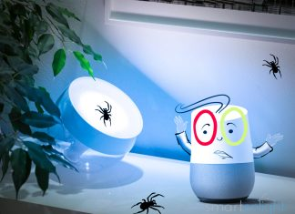 Illustration Google Home Philips Hue Bugs