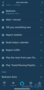 Screenshot of Alexa good morning Routine - screen 4