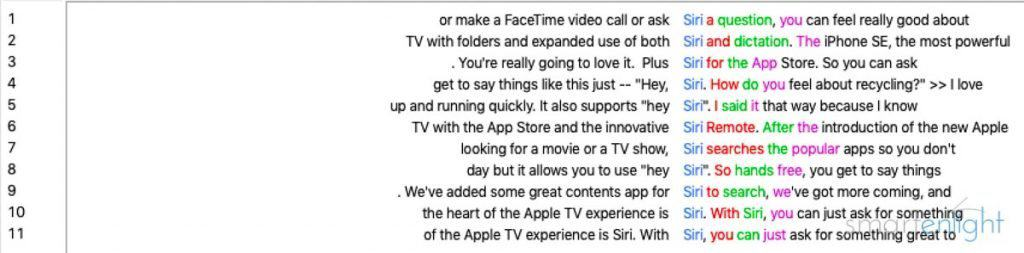 Apple Event 2016-03 Siri Mentions