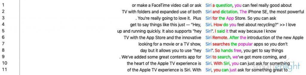Siri Mentions Apple Event 2016-09