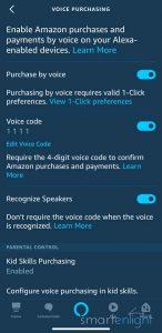 Alexa Voice Purchasing Settings
