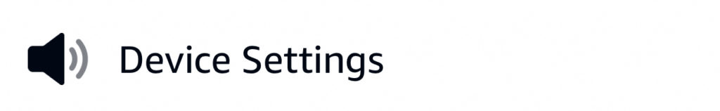 Alexa Routines Actions - Device Settings Action Icon