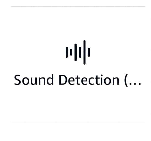 Alexa Routines Activations - Sound Detection Icon